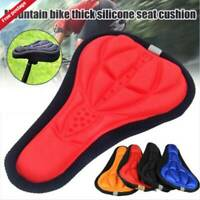Bike Bicycle Silicone 3D Gel Saddle Seat Cover Pad Padded Soft Cushion Comfort @