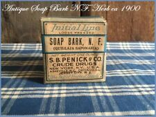 Antique Soap Bark NF Apothecary Pharmacy Medicine Crude Drug Box Sealed ca 1900