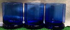 (3) ANCHOR HOCKING Cobalt Blue Highball Tumbler Glasses
