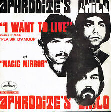 "45T 7"": Aphrodite's Child: I want to live. mercury. A9"