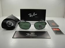 RAY-BAN CARBON TECH POLARIZED SUNGLASSES RB8316 002/N5 BLACK/GREEN LENS 62MM