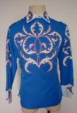 Vintage Western Parade shirt Rhinestones Embroidery Custom made in Nudie Style