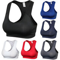 Women Solid Color Sports Bra Yoga Running Training Quick Dry Vest Underwear