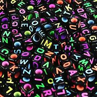 6mm DIY Colorful Acrylic Alphabet Letter Cube Beads Jewelry Making Supplies New