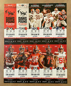 2015 NFL CLEVELAND BROWNS FOOTBALL FULL UNUSED TICKET SHEET - ALL 10 HOME GAMES