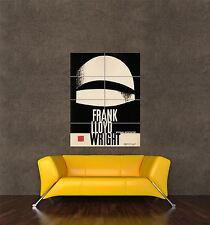 Giant Print Cartel Vintage Anuncio Frank Lloyd Wright Arquitectura Polonia pdc147