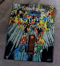 Death of Superman 1992 60+ JLA Heroes Doomsday Jurgens Breedings PROMO Poster VF