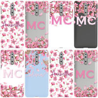 PERSONALISED INITIALS TRANSPARENT CHERRY BLOSSOM PHONE CASE COVER FOR NOKIA