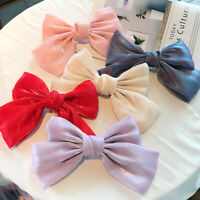 French Hair Accessories Clip Hairpin Fashion Pearly Hairpin Bow Satin