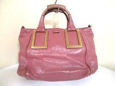 Authentic Chloe Pink Ethel Leather Handbag w/ Shoulder Strap