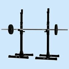 New Gym Squat Barbell Power Rack Stand Adjustable Press Weight Bench