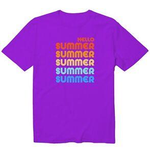 Hello Summer Retro Happy Summer Holiday Unisex Kid Youth Graphic T-Shirt