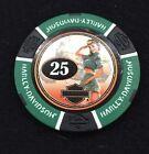 Harley Davidson American Beauty Poker Chip / Green & Black