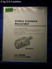 Sony Bedienungsanleitung CCD TR3200E Video 8 Camera Recorder (#1218)