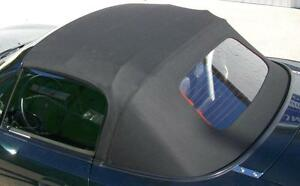 Mazda MX5 Cubierta Tejido negro Calentable Trasera incl. Carril de lluvia NA NB
