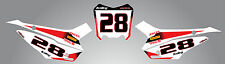 Custom number plate stickers decals STORM STYLE fits Honda CRF 110 2013 - 2018