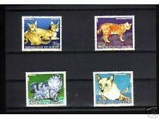 0908++GUINEE   SERIE TIMBRES  CHATS  N°1