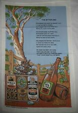 Kitchen TEA TOWEL New THE BITTER END Design Hand Cloth Aus Australian BEER poem