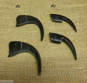Carved Horn Claw Pendant Black 2 Styles Beading Necklace Earrings Costume Bulk