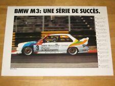 BMW M3 E30 POSTER 24 - UNE SÉRIE DU SUCCÈS - ORIGINAL VINTAGE in MINT RAR