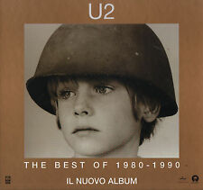 ORIGINAL U2 THE BEST OF 1980-1990 PROMOTIONAL SHOP DISPLAY CARD CM 32X32 ITALY