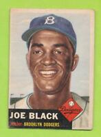 1953 Topps Baseball Cards - Joe Black (#81)  Brooklyn Dodgers