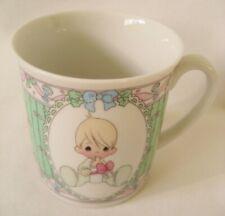 Precious Moments Baby Boy's 1st Christmas Cup/Mug 1991 Enesco-Samuel J Butcher