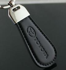 Black PU Leather Drop Keyring For Toyota Car Logo Key Ring Keychain Gift