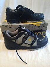 DC Aerotech Cuero Para Niños Niños Azul Gris Amarillo Zapatillas de Skate tamaño de Reino Unido 5 Nuevo Y En Caja