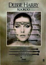 1981 Vintage 8X11 Album Promo Print Ad For Blondie Debbie Harry Kookoo Hr Giger