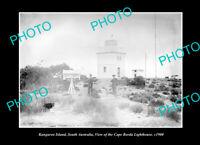 OLD POSTCARD SIZE PHOTO CAPE BORDA KANGAROO ISLAND VIEW OF THE LIGHTHOUSE 1900