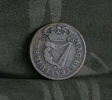 1681 Ireland 1/2 Penny Copper World Coin Irish Charles II Harp Crown Ire