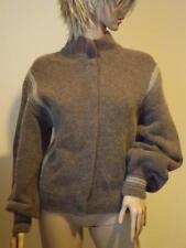 Luxurious Salvatore Ferragamo Wool Angora Blend Beige Cardigan Sweater Small
