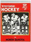1983 Wisconsin Hockey vs North Dakota Program Vintage (JS)