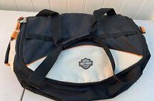Vintage Authentic Harley Davidson Cotton Duffle Bag Logo & Wording Embroidered