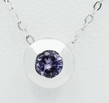 ALEXANDRITE 0.25 Cts PENDANT NECKLACE 10k WHITE GOLD * New With Tag *