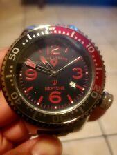 Swiss Legend Neptune Quartz Date Silicone Strap Watch 52mm