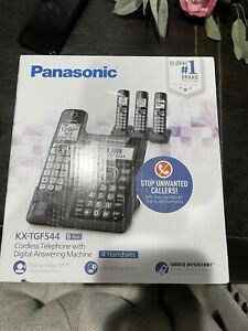 Panasonic KX-TGF544B 4 Handset 1.9 GHz One-Touch Call Cordless Phone System -...