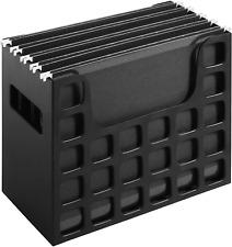Portable Plastic Desktop Hanging Letter File Folder Storage Organizer W Handles