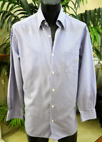 Zegna Casual Shirt L 17 32/33 Button Collar Made in Italy