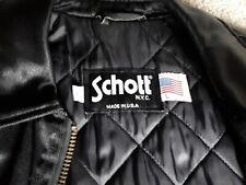 Schott NYC Vintage Motorcycle Jacket Black Size L Discontinued