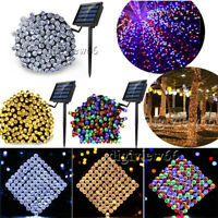 LED Solar Battery Powered Fairy Garden Lights String Outdoor Party Wedding Xmas