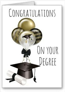 Congratulations On Your Degree Card Graduation cap Scroll All Cards 3 for 2