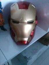Iron Man Motorcycle Helmet Cosplay Mask for Adult Touch Sensing Mask with LED