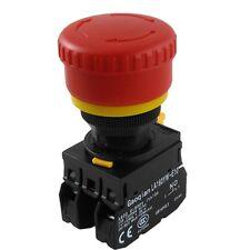 AC 600V 10A Red Sign Mushroom Emergency Stop Push Button Switch YW1B-V4E11R