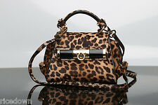 NWT $1790 Salvatore Ferragamo Mini Sofia crossbody Bag in Animal Leopard Print