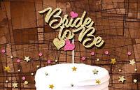 BRIDE TO BE GLITTER CAKE TOPPER HEN DO BACHELORETTE STAG DO CAKE DECORATION