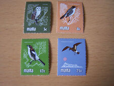 MALTA,BIRDS SET,4 VALS,U/MINT.EXCELLENT.