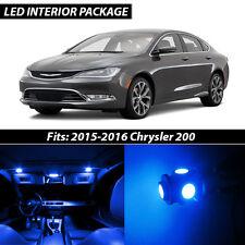 2015-2016 Chrysler 200 Blue Interior LED Lights Package Kit