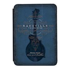 Nashville Guitar Blue Música Rock Mini Ipad 1 2 3 Cuero Pu Flip Funda Protectora
